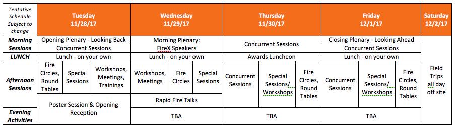 Orlando At a Glance Schedule copy